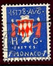 Monaco; 1954; Sc. # 315; O/Used Single Stamp