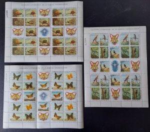 CUBA #686-700, Complete sheets of 20, og, NH, VF, Scott for singles $110.00