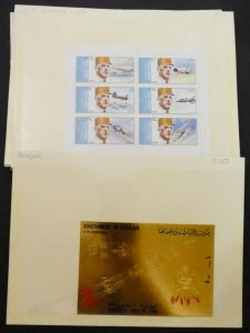 EDW1949SELL : SHARJAH Nice group of VF, Mint NH Unlisted S/S. Prices marked $153