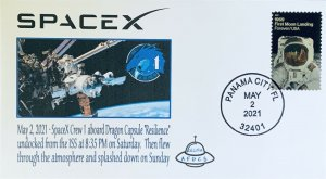 AFDCS SPACEX Dragon Capsule Resilience Return 5-2-2021 Undocked at 835PM