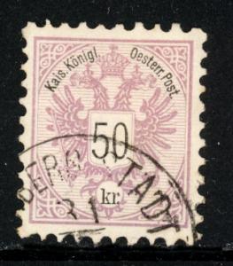 Austria 1883  Scott #46 used (CV 80.00)