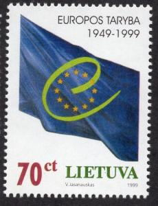 Lithuania   #630   1999  MNH  Council of Europe