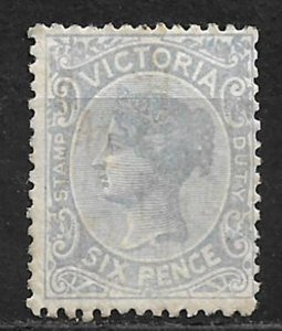COLLECTION LOT OF # 151b AUSTRALIAN STATE VICTORIA 1885 MH CV=$82.50 STAINED