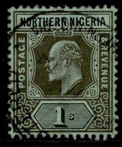NORTHERN NIGERIA EDVII SG36, 1s black/green, FINE USED.