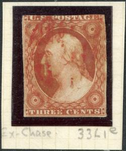 #10 F-VF USED WITH RED GRID CANCEL POS.33L1e EX-CHASE CV $210.00 BP1432