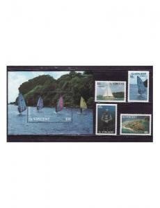 St Vincent - Tourism - 4 Stamp & S/S  Set - 1095-9