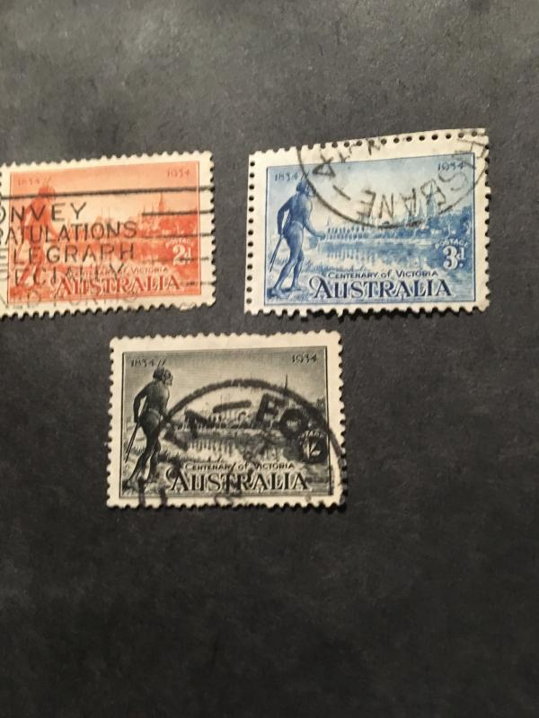 Australia 2015 Scott #142-144 Cpl. Used One Sh. Missing Perf and Some  Nibbed