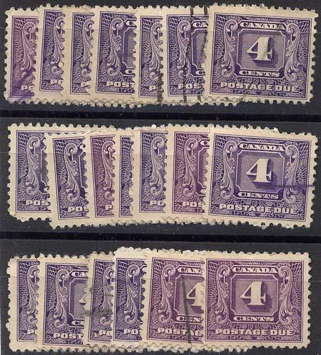 Canada - 1930 4c Postage Dues X 20 Used #J8