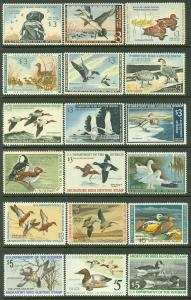 EDW1949SELL : USA 1959-2001 Beautiful collection of Ducks Cplt between RW26-68.