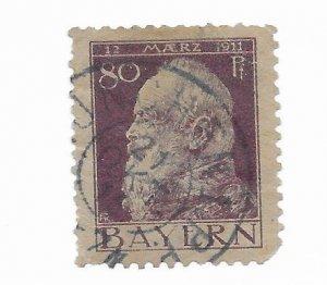 Bavaria #85 Perfs Used - Stamp - CAT VALUE $10.00