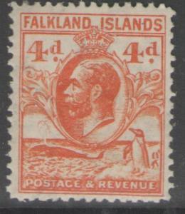 FALKLAND ISLANDS SG120 1932 4d ORANGE MTD MINT