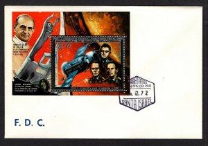 Equatorial Guinea  #72242 (1972 Astronaut Memorial 200+25e perforate sheet)  FDC