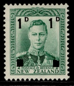 NEW ZEALAND GVI SG628, 1d on ½d green, M MINT.