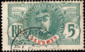 DAHOMEY - 1906 - Yv.21 / Mi.21 5c vert - Oblitéré TB