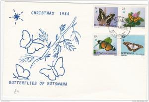 Botswana 1984 Christmas Butterflies Unaddressed FDC ZZ2527