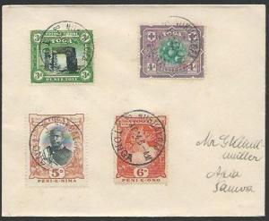 TONGA 1924 cover to Samoa - nice franking ex Nuku'alofa....................83533