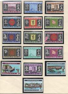 Guernsey Sc 8-23 1969 1st long stamp set mint