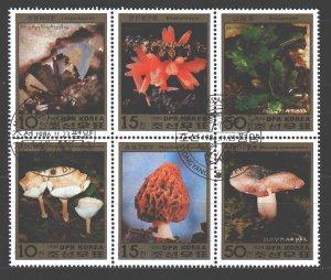North Korea. 1986. 2788-93. Minerals, Mushrooms. USED.