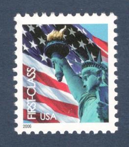 3966 Flag & Liberty US Single W/Microprint Mint/nh FREE SHIPPING