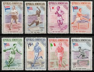 1957 Dominican Republic 560-567 1956 Olympic Games in Melbourne