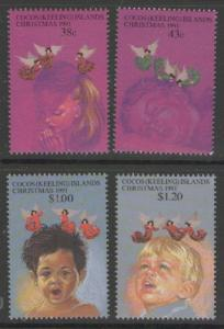 COCOS (KEELING) IS. SG247/50 1991 CHRISTMAS MNH