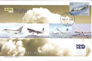 100 Years Of Flight First Day Cover - Fairey Firefly - 2004 Liberia Z5526