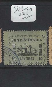 VENEZUELA GUYANA    (PP2203B)  SC  4  WITH SEAL  BOAT     MOG