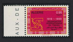 Algeria 50th Anniversary of ILO 1v Left Margin SG#536