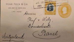 O) 1911 COSTA RICA, MAURO FERNANDEZ SCT 62  5c, HABILITADO 1911 OVERPRINTE, HEN