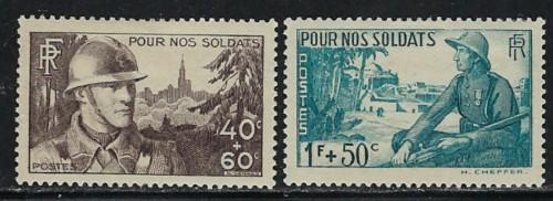 France B94-95 Hinged 1940 Issues