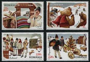 HERRICKSTAMP NEW ISSUES ROMANIA Sc.# 5888-91 New Year Customs