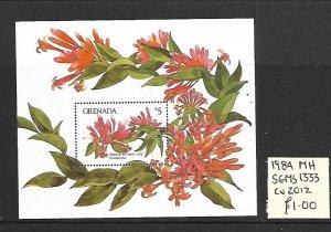 Grenada MH S/S 1333 Orange Trumpet Vine 1984