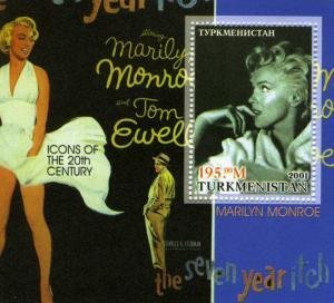 Turkmenistan 2001 MARILYN MONROE s/s Perforated Mint (NH)
