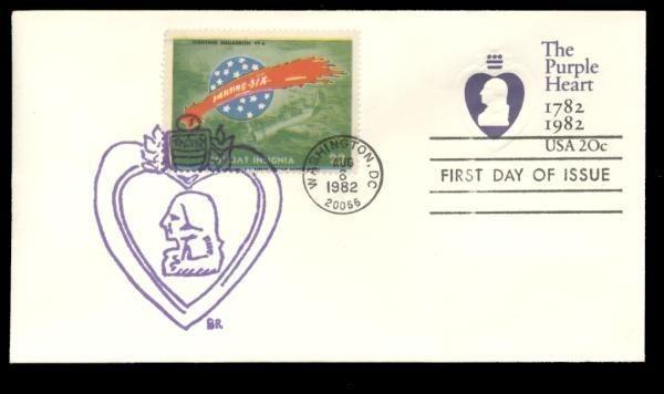 Fighting Squadron VF-6 Poster Stamp on Purple Heart #U603 FDC