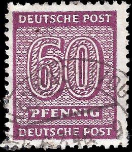 Germany-West Saxony 1945 Mi 137Y U F
