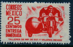 MEXICO E10, 25cts Motorcycle, Special Delivery. MINT, NH. F-VF.