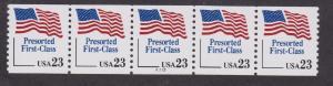 US #2605 Flag Presort F-VF MNH PNC5 #A212