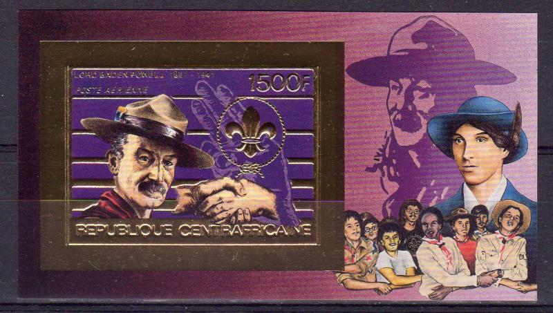 Central African Republic 1984 Mi.#Bl.313B Scouts-Lord Baden-Powell SS Imperf.MNH