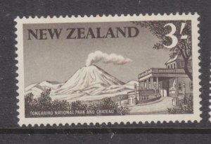 NEW ZEALAND, 1960 Tongariro National Park, 3s. Blackish Brown, mnh.