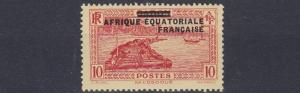 FRENCH COLONIES EQUATORIAL AFRICA 1936  S G  21  10C  SCARLET & YELLOW   MH