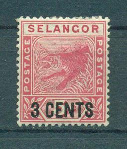 Malaya - Selangor sc# 28 (2) mh cat value $5.00