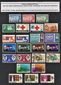 STAMP STATION PERTH  Antigua #24 Omnibus Issues-11 Sets - MLH - Unchecked