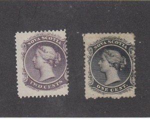 NOVA SCOTIA (MK4987) # 8-9  F-MLH/1H  1-2cts  QUEEN VICTORIA /BLACK & LILAC