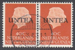 NETHERLANDS NEW GUINEA 1962 40c UNTEA overprint fine used pair..............G363