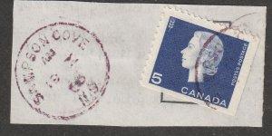 SAMPSON COVE NS AM/19X/66 RICHMOND CTY CDS CANCEL