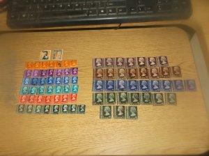 79 Hong Kong Stamps  CV $318