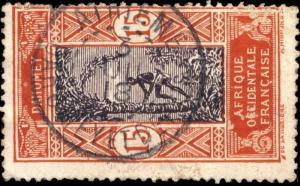 DAHOMEY - 1918 - CAD DOUBLE CERCLE ATHIÉMÉ / DAHOMEY SUR N°48