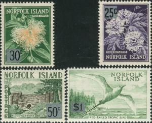 Norfolk Island 1966 SG68-71 Flowers Bridge Bird MNH