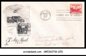 UNITED STATES USA - 1947 5c AIR MAIL HELICOPTER - FDC