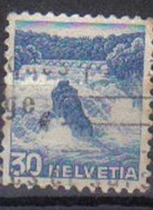 SWITZERLAND, 1936, used 30c. Landscapes. Rhine Falls, Schaffhausen